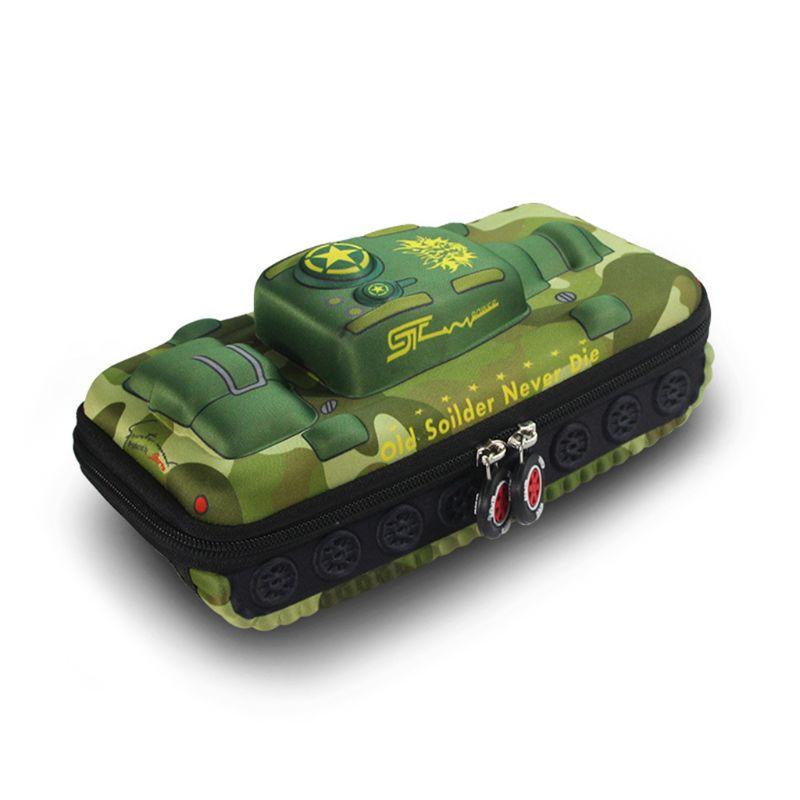 Creative Tank Car Pencil Bag Large Capacity Pen Storage Organizer Office School Supplies Stationery Boy Gift 19QA