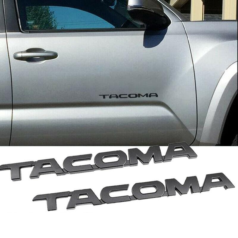 Matte Black A Set Of 3pcs Tacoma Emblem 1pcs SR5 Auto Emblem Replacement For Tacoma Side Door Fender Tailgate Car Logo Badge Sticker 2005-2015 1pcs V6