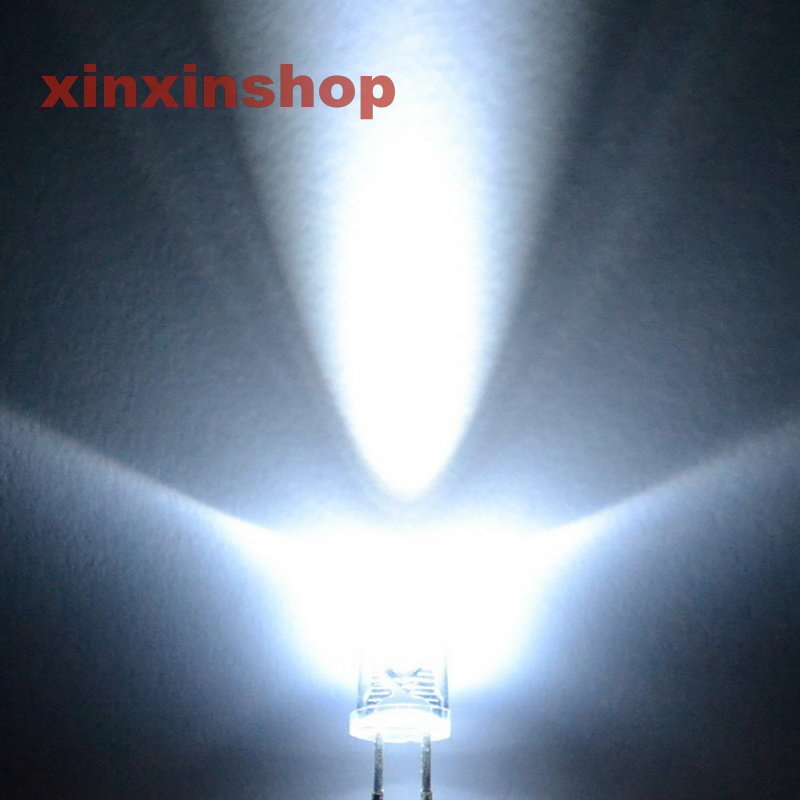 1000pcs 3mm 12000mcd Super Bright Light Bulb White Led Lamp New Free Shipping
