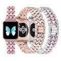 Женский ремешок со стразами для apple watch 38 мм 42 мм iwatch ремешок 44 мм 42 мм из нержавеющей стали для ремешок на apple watch 6 ремешок serice 5 4 3 2