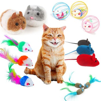Cat Toys Cute Mouse Toy for Cat Funny Furry Cat Toy Interactive  Feather Toy for Kitty Kitten Catnip Cat Toys Pet Cat Supplies red legged mouse pet cat toy multicolored