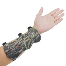 Camouflage Leather Shooting Archery Bow Forearm Arm Guard Protection 3 Strap Archery Armguard Bow Protection black archery bow page 3