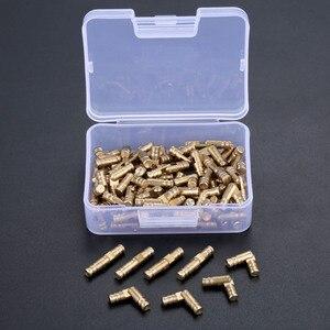 Image 1 - DRELD 100 sztuk mosiądz ukryte zawiasy beczki biżuteria drewniane pudełka szafka ukryty niewidoczny zawias meblowy 4*20mm ze schowkiem