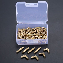 DRELD 100 قطعة النحاس أخفى برميل مفصلات مجوهرات صناديق الخشب خزانة خفية الأثاث غير مرئية المفصلي 4*20 مللي متر مع صندوق تخزين
