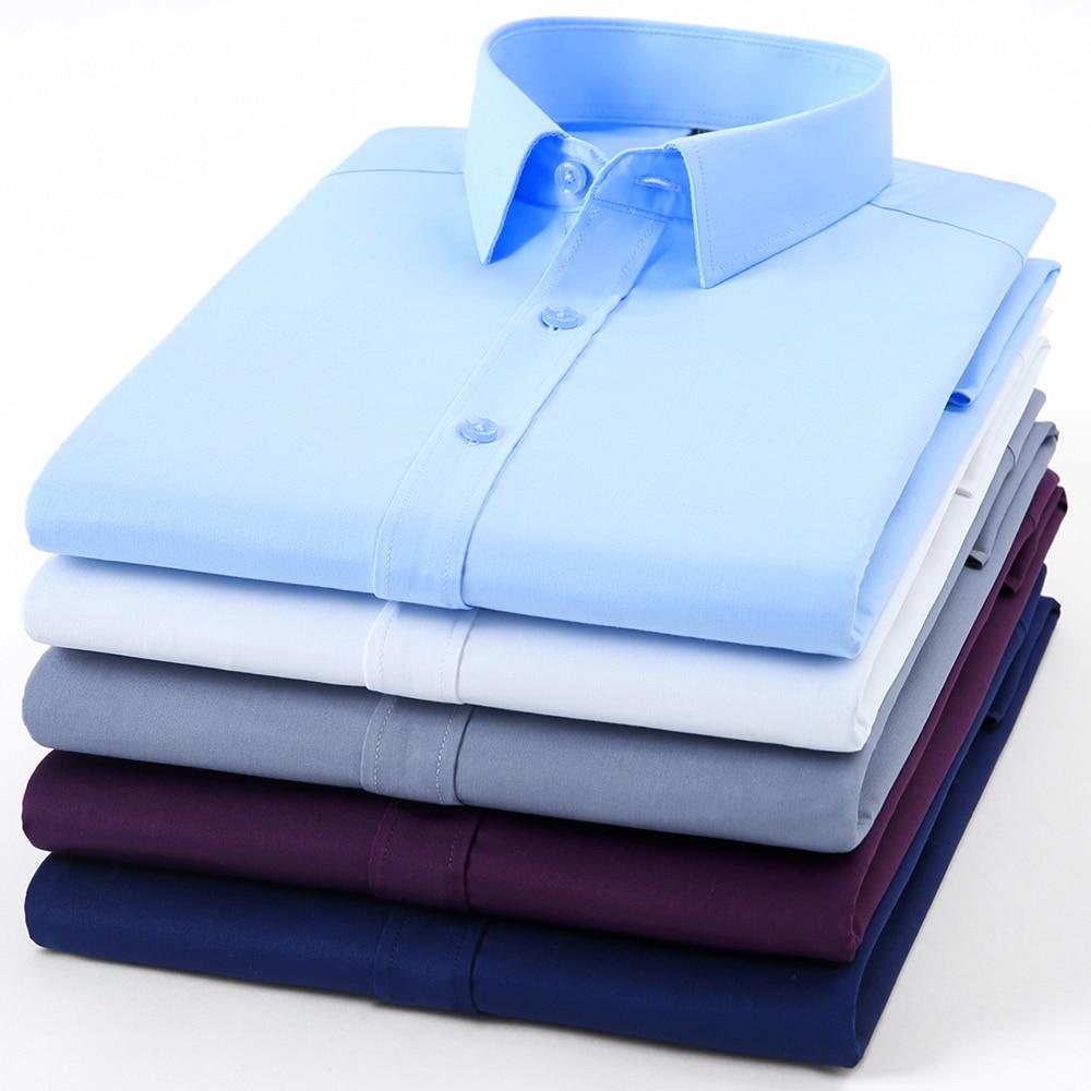 Paolo Sirum Brand Men Dress Shirt Non Iron Male Fashion Long Sleeve Business Formal Camisa Social Masculina 1