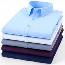 Camicia elegante da uomo di alta qualità Non in ferro moda manica lunga Business formale Regular Fit Office Camisa Social Masculina