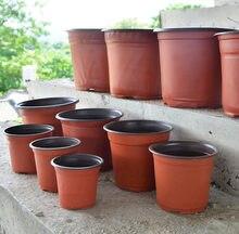 Caixa de plástico crescer resistente a queda bandeja para casa jardim planta pote berçário transplante vasos de flores criação semeadura caso recipiente