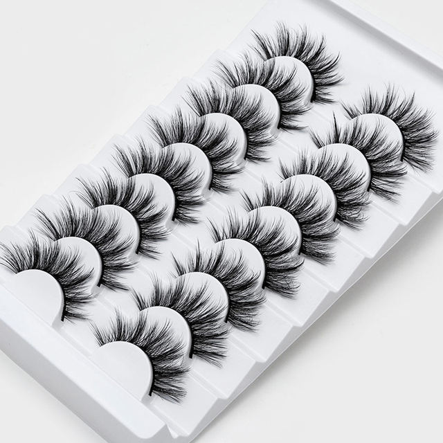 SEXYSHEEP 4/8 pairs 3D Mink Lashes Natural False Eyelashes Dramatic Volume Fake Lashes Makeup Eyelash Extension Silk Eyelashes 1