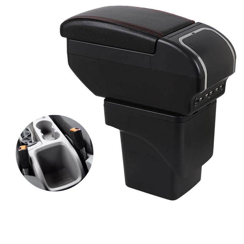 Compartimento de reposabrazos especial para coche, reposabrazos para Ford Focus 2 Mk2, caja reposabrazos hecha a medida, almohadilla reposabrazos Central automático, soporte para taza con interfaz USB