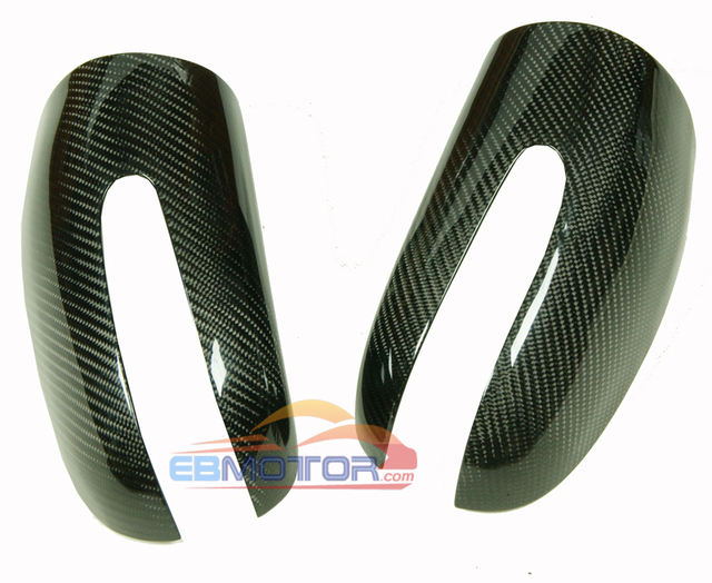 Real Carbon Fiber Mirror cover 1pair for Benz C-Class W203 2001-2006 M097M 3