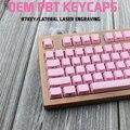 IDOBAO розовая механическая клавиатура 87 ключ OEM Pbt Keycap Ретро лазерная гравировка боковая печать игровая тастатура вишня Mx Gh60 Dota 2