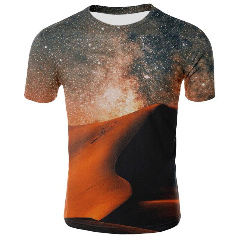 3D Starry Sky T Shirt Men Women Fashion Harajuku O-Neck Short Sleeve Night Sky Casual Tops Tees Cool Galaxy T Shirt