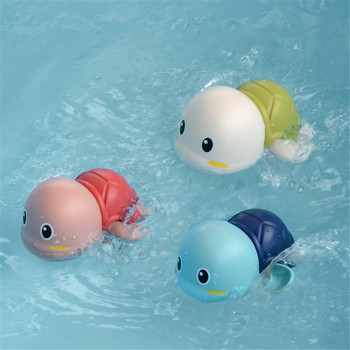 1 PCS Cute Cartoon Animal Tortoise Classic Baby Water Toy Infant Swim Turtle Wound-up Chain Clockwork Kids Baby Beach Bath Toys 1