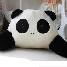 Cojín de oso Panda de dibujos animados para la cintura, almohada Lumbar de felpa para asiento de coche, regalos para niños, accesorios de coche
