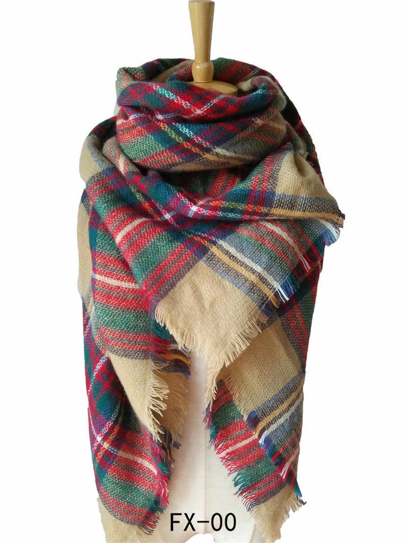 2019 winter Plaid cashmere Scarf Women Big Square Scarves Warm wool pashmina lady Shawls and wraps female Blanket scarf  foulard