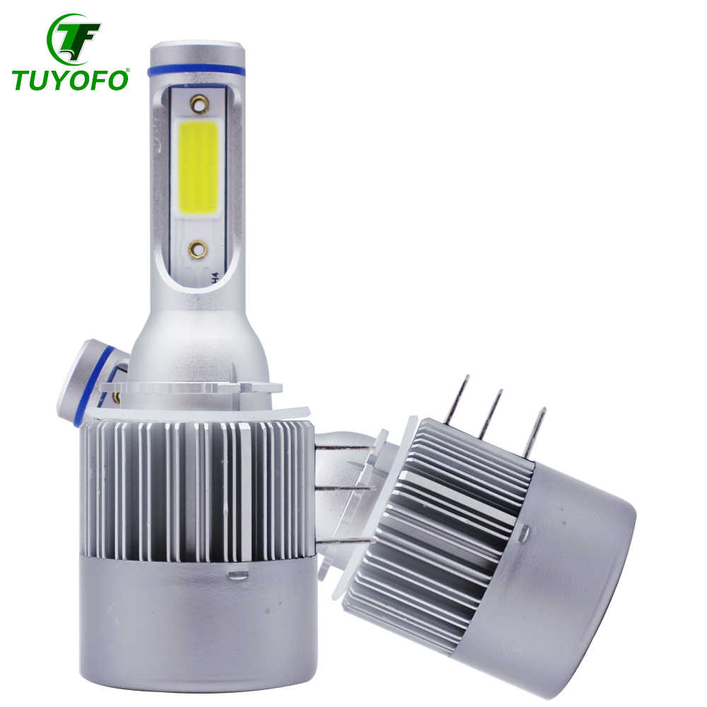 Tuyofo 2pcs Car Lamp H15 LED Headlight 6000K Bulb COB LED 72W 10000LM Wireless Driving Light Sourcing Cars Automobile
