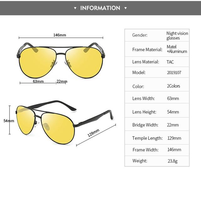 Classic Retro Polarized Night Driving Glasses for Women Men Oversized Anti Glare Night Vision Pilot Sunglasses U400 5