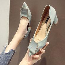 EOEODOIT Leather Heels Shoes Women Spring New Arrival Pumps
