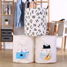 цена на NEW Folding Laundry Basket Basket Storage Barrel Washing Basket Dirty Cloth Sundries Toy Cartoon Baskets Box Holder Pouch Bucket
