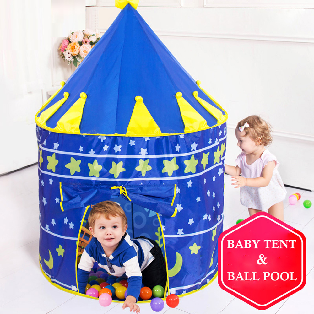 Children's Tent Portable Wigwam Kids Tent Foldable Ball Pool Tipi Tent For Kids Folding Castle Play House Outdoor Indoor Toys
