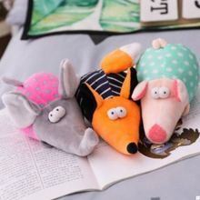 Cute Big Ears Mouse Dog Bowling Brooches Shape Toy Plush Toys Safety Voice Pet And Cat Funny