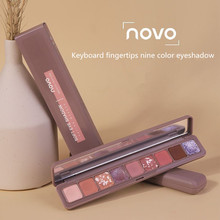 NOVO Trend Matte Pearlescent Polarized  тени для век Eyeshadow Fingertips Nine Color Eyeshadow Pallette тени beyu тени для век color swing eyeshadow 190 2г