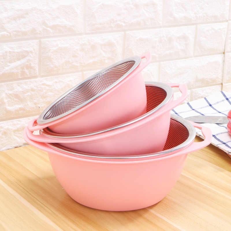 304 ステンレス鋼の排水バスケットセットボウルストレーナ家庭のキッチン洗浄槽セット果物や野菜流域ウォッシュライスがれ