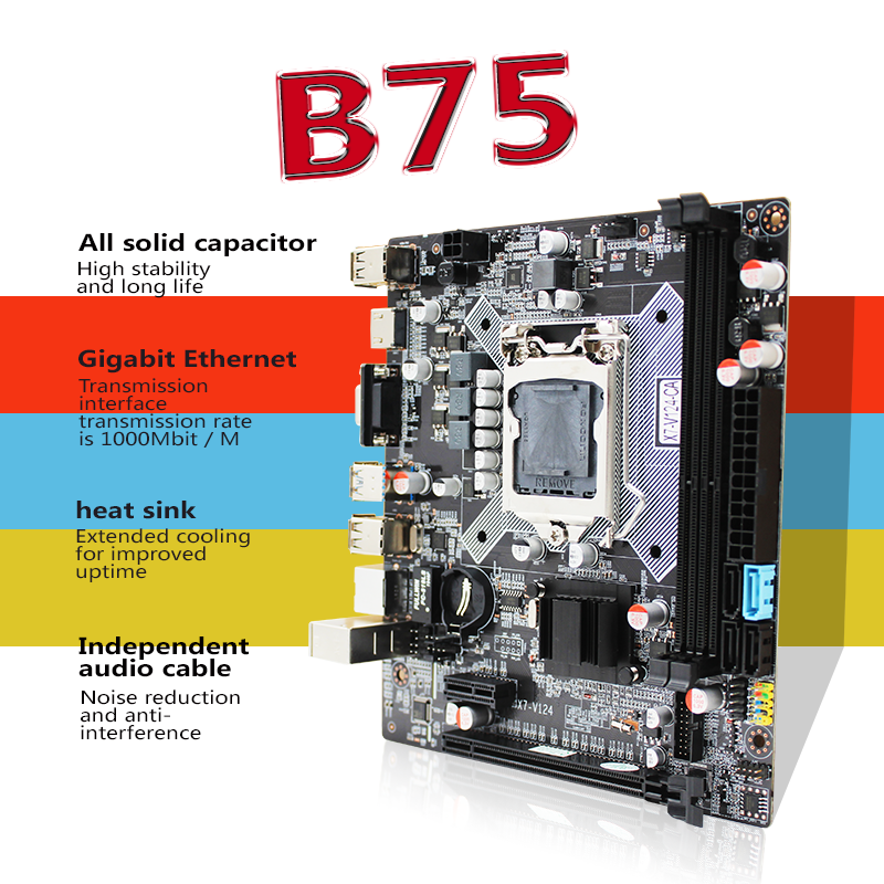B75 escritorio placa base LGA1155 i3 i5 i7 CPU soporte ddr3 memoria 100% probado intactos entrega gratuita