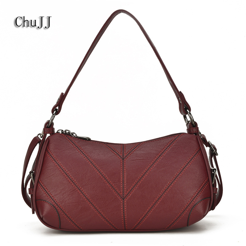 Luxury Designer Soft Leather Bags Women's Genuine Leather Handbags Woman Messenger Bag Ladies Shoulder Crossbody Bags For Women