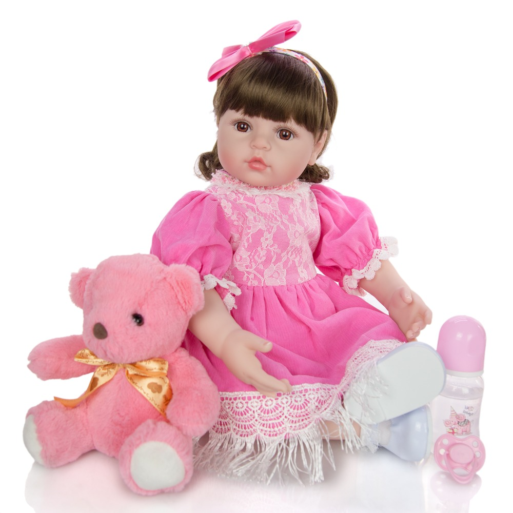 <font><b>24inch</b></font> Bebe Reborn Doll cloth Body Soft Silicone Dolls simulation baby Doll Realistic cute girls Kids boy Playmates Gift toy image