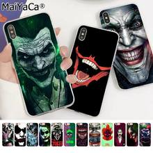 MaiYaCa Batman caballero oscuro Coringa Karta DIY Pintado a Caixa Do Telefone Bonito para Apple iPhone 8 7 6 6S Plus X XS MAX 5 5S SE XR(China)