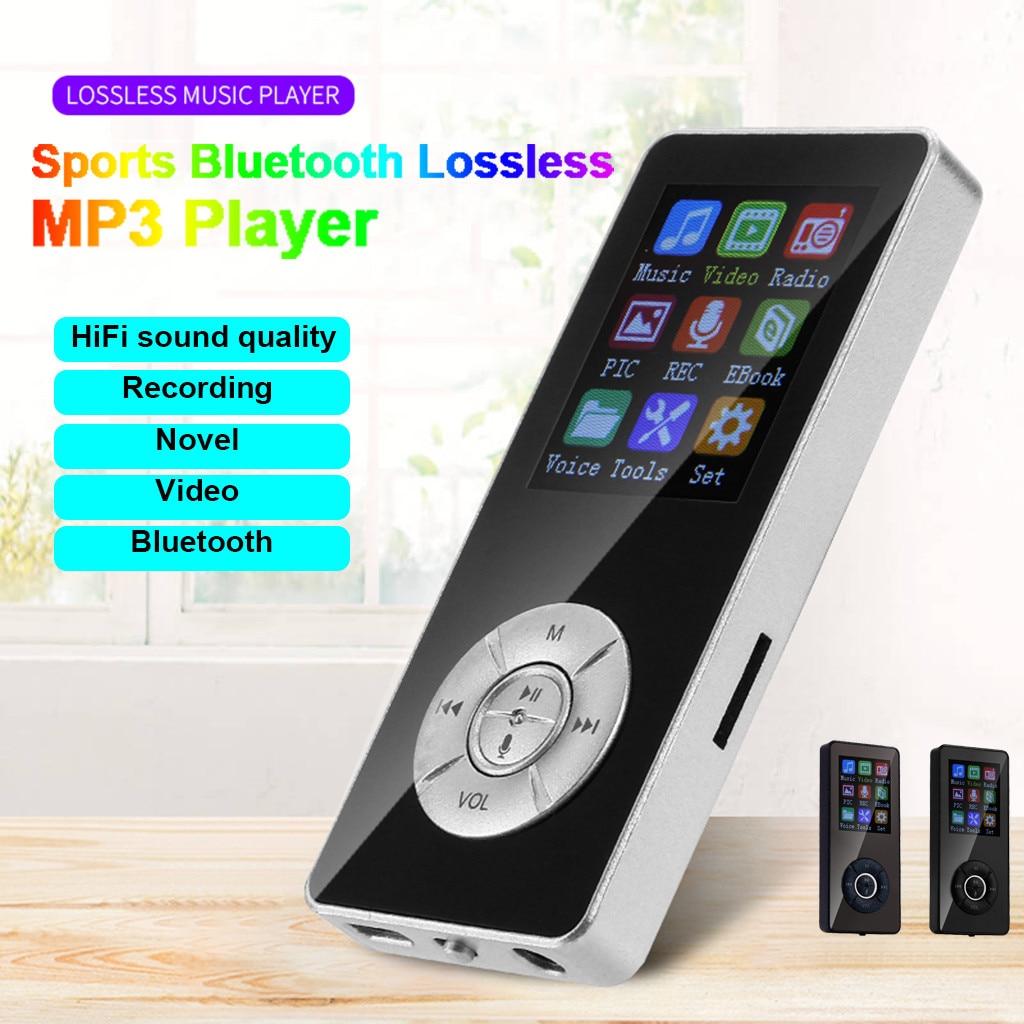 Bluetooth MP3 плеер Портативный Hi-Fi Walkman FM радио Регистраторы спортивные музыкальные колонки 1,8