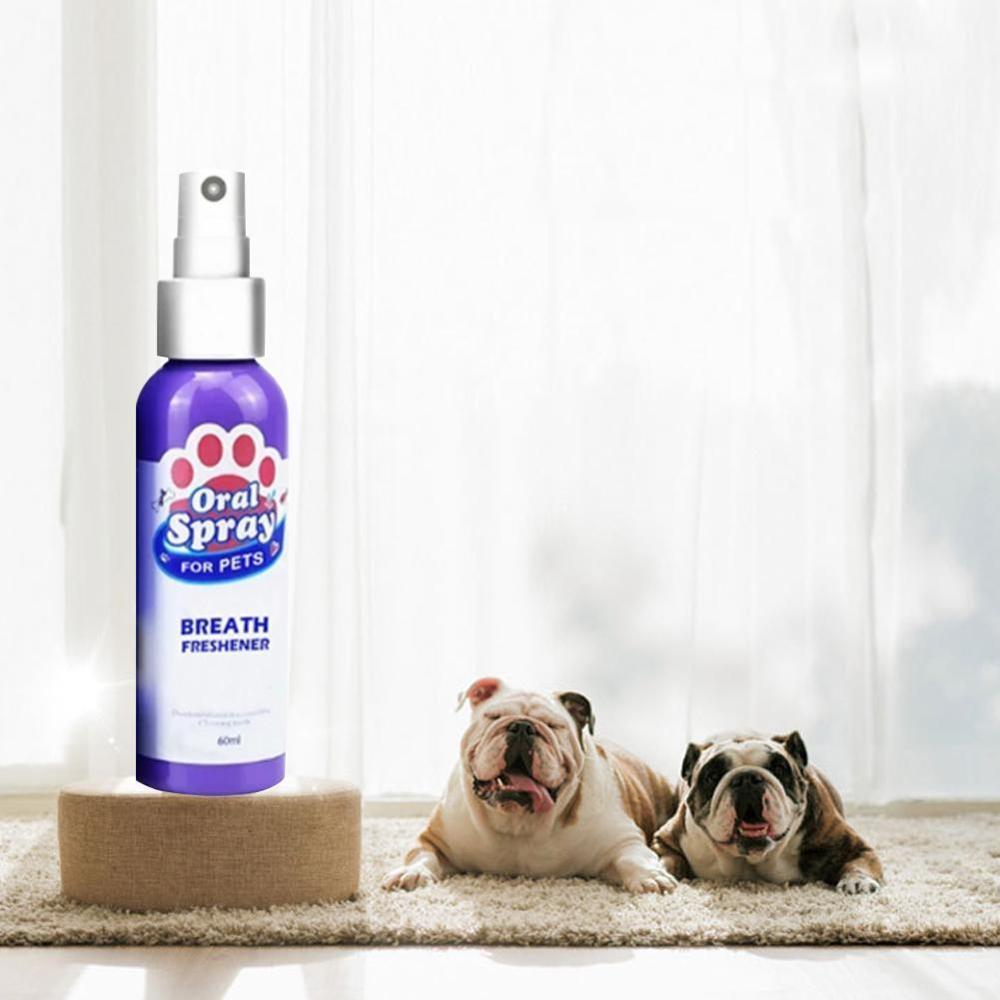 1pc Pet Breath Freshener Spray Dog Teeth Cleaner Fresh Breath Mouthwash Non-toxic