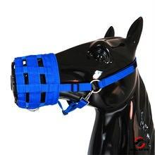 Дышащая сетчатая накладка на рот лошади жевательное устройство