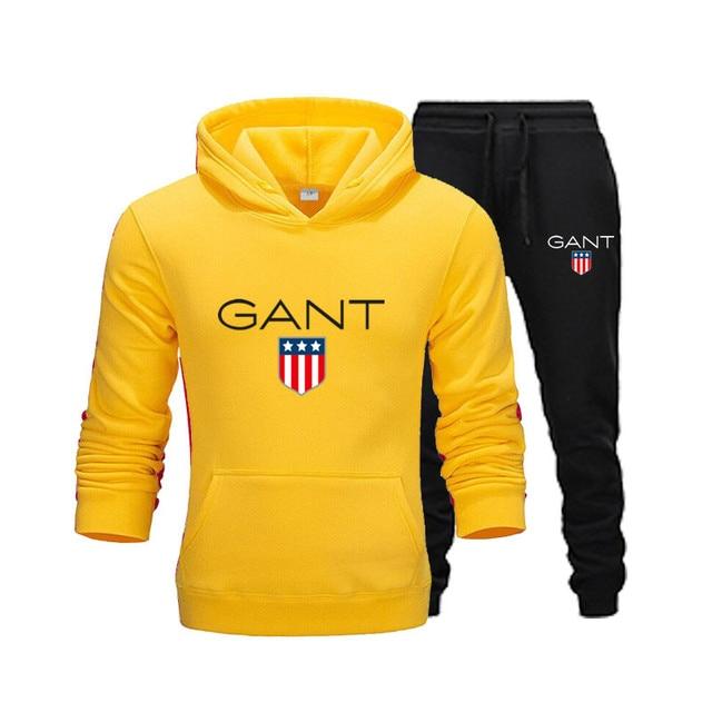 Autumn Winter Men's Sets Brand Sportswear Tracksuits 2 Piece Sets Men's Clothes Hoodies+Pants Sets Male Streetswear Coat Jackets
