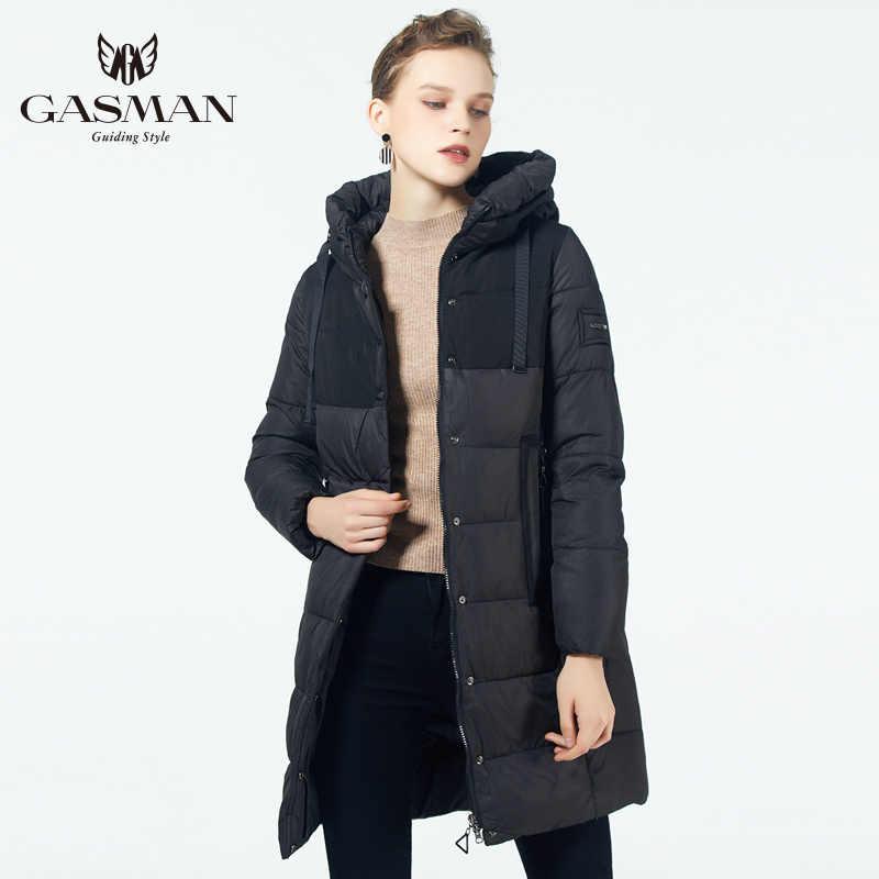 GASMAN 2019 Parka de Invierno para mujer nueva colección a prueba de viento abrigo grueso para mujeres con capucha estilo europeo chaqueta de abrigo para mujeres abajo