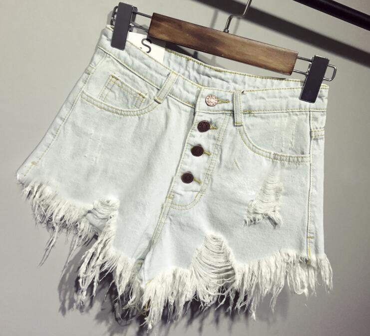 female fashion casual summer cool women denim booty Shorts high waists fur-lined leg-openings Plus size sexy short Jeans 12