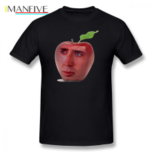 Nicolas Cage T Shirt Cageu Apple T-Shirt Graphic Streetwear Tee Short-Sleeve 100 Percent Cotton Funny Mens Tshirt