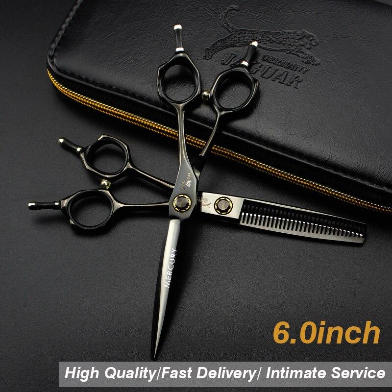 6 Inch   Hair Scissors Japan 440C Hairdressing Scissors Thinning Shears Hairdresser Hair Cutting Scissor  Set