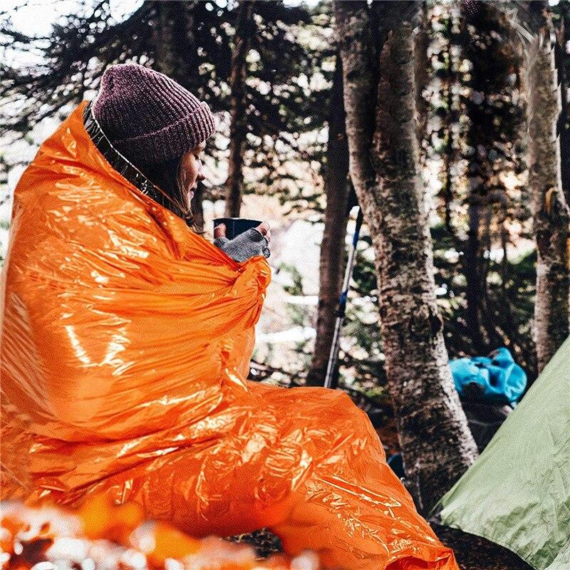 Outdoor portable aluminum film emergency sleeping bag tent heat preservation and moisture-proof mat sunscreen