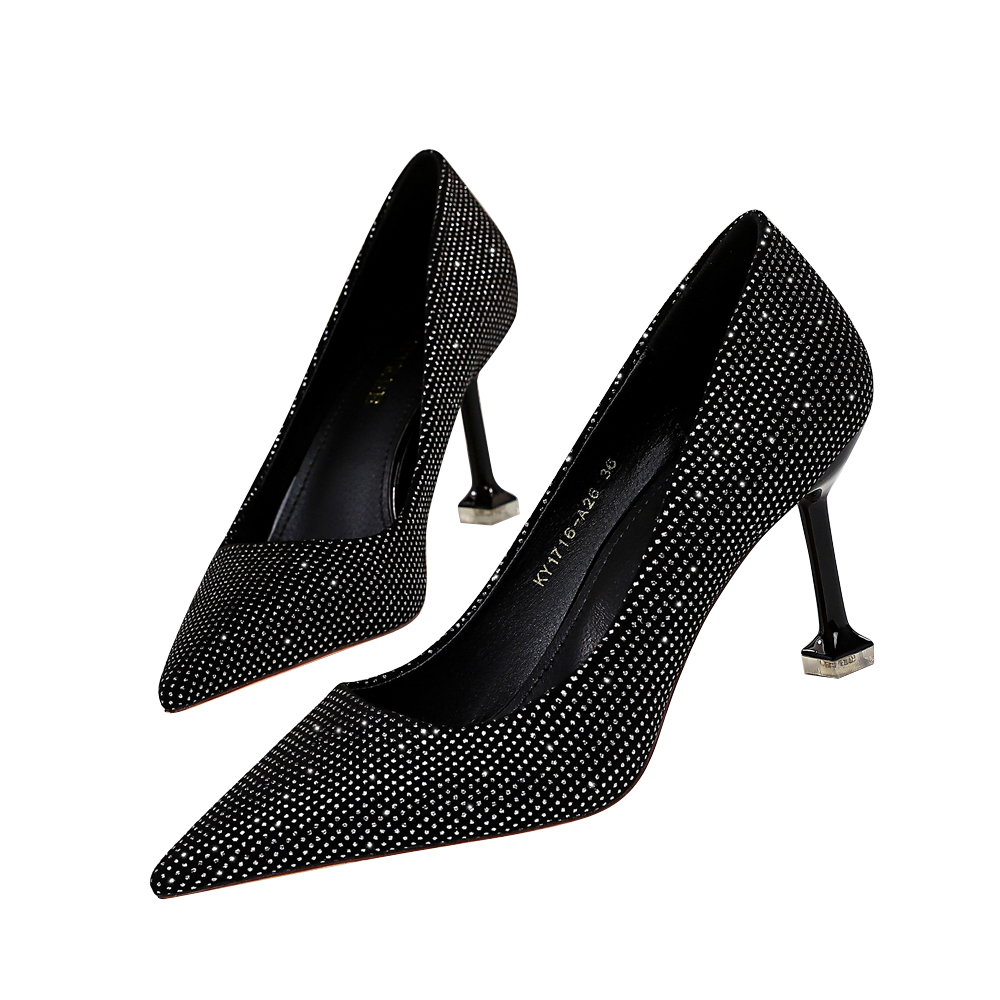 Anance fashion wonmen shoes thin heel hight heel sexy mature hot selling office lady consice free shipping shallaw pointed toe