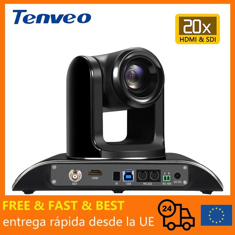 [EU Stock] Tenveo 1080p60fps 2MP 20X Zoom потоковая видеокамера для конференц-связи HDMI USB 3G-SDI 3 выхода одновременно