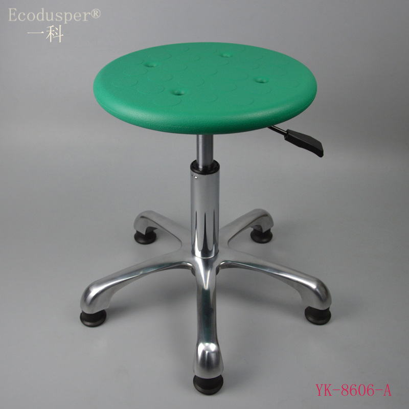 Guangzhou Manufacturers Direct Selling Army Green PU Surface Stool Chair Anti-static Stool Anti-static Height Adjustable Round S
