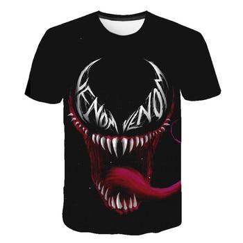 цена на Summer 2020 children's t-shirt latest venom Marvel t-shirt 3D printed t-shirt boy girl casual round neck t-shirt football shirt