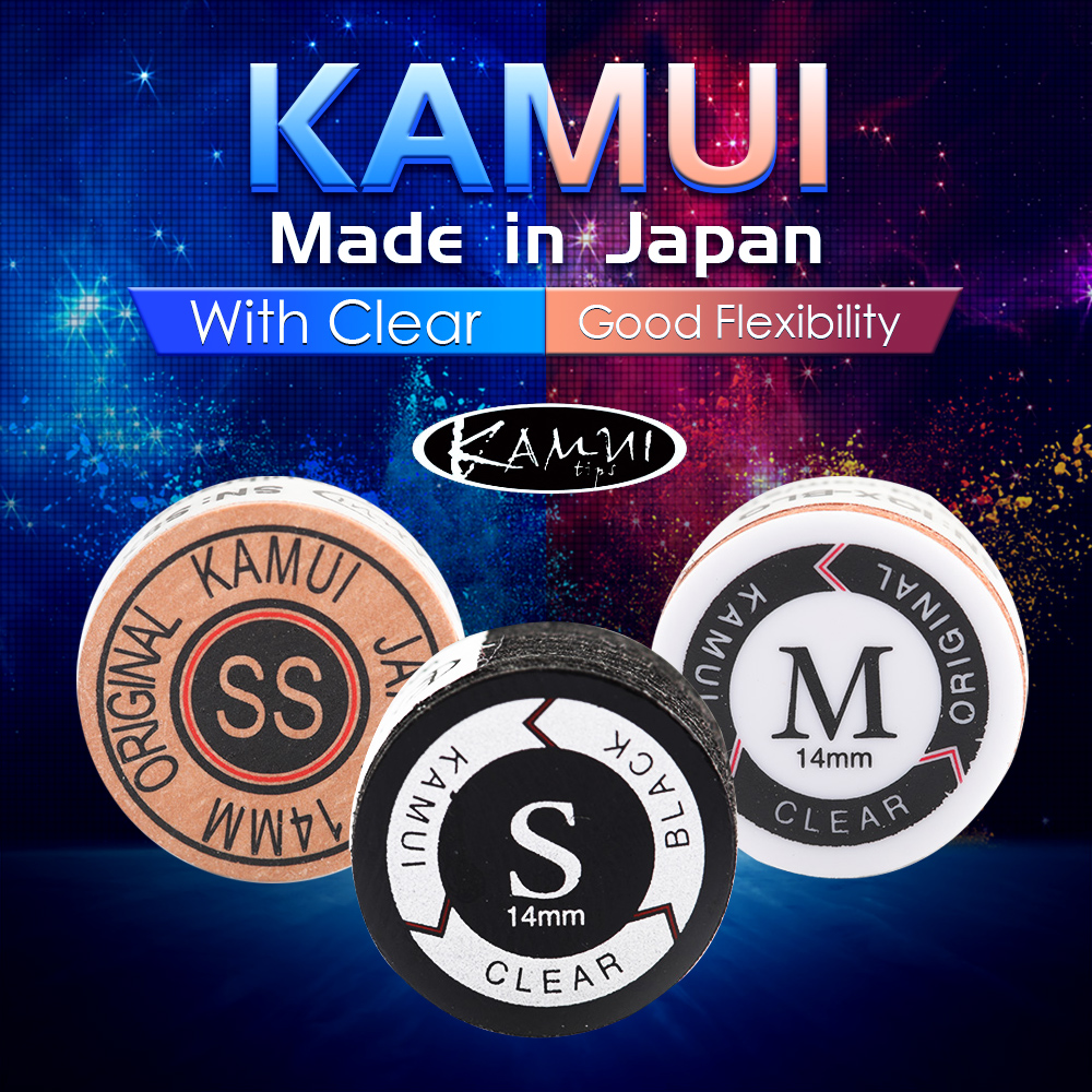 KAMUI BLACK CLEAR POOL CUE TIPS S HARDNESS BRAND NEW FREE SHIPPING