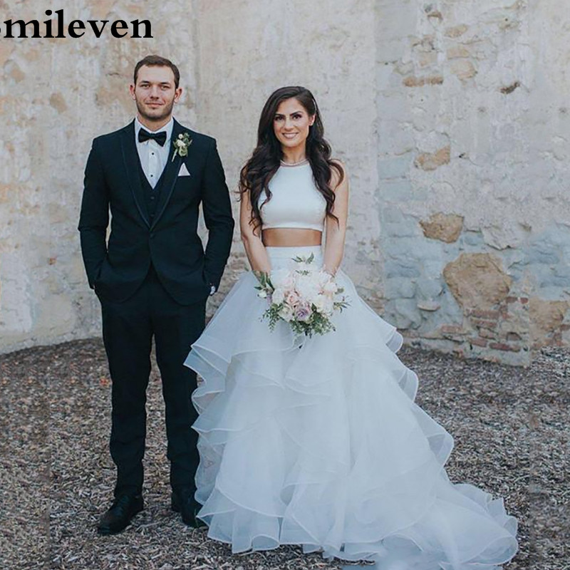 Smileven Princes Wedding Dress 2 Pieces A Line Boho Bride Dresses Robe De Mariee Wedding Gowns