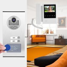 цена на Apartment LCD Monitor Intercom Camera Video Door Phone Doorbell with ID Card 2 Units 110-240V