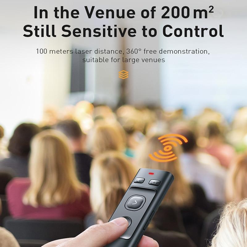 Baseus Wireless Presenter Projector Usb-C-Laser-Pointer Slide Powerpoint Remote-Control