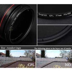 Image 5 - KnightX FLD UV CPL Filtro de lente 49 52 55 58 62 67 77 mm para nikon Canon Sony accesorios de lente Cámara d5200 d3300 canon 52mm 58mm