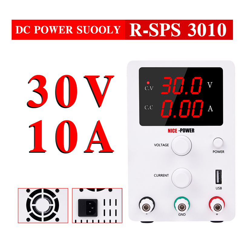 Adjustable Switching dc lab power supply Variable 30V 10A Regulated Power Modul Laboratory Power Source digital